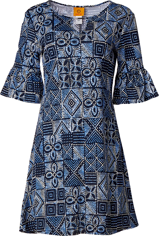 Ruby Rd. Women's Patchwork Puff Print Dress