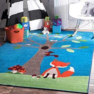 woodland creature rug