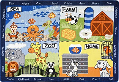All New Kids Educational Non-Skid Area Rug (4 x 6,