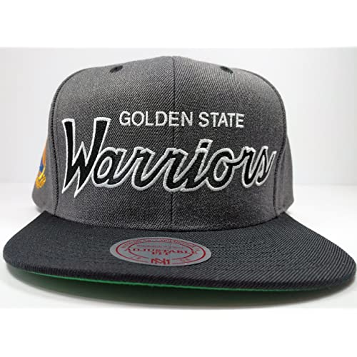 1c53f6d9 Mitchell & Ness Golden State Warriors Charcoal Vintage Draft Special Script  Hat Cap NBA