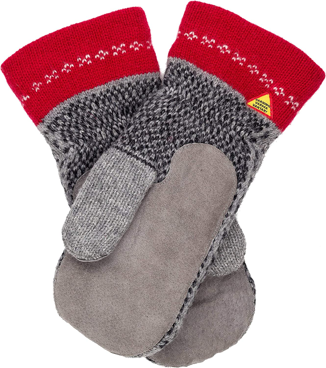 Öjbro Swedish made 100% Merino Wool Soft Thick & Extremely Warm Suede Palm Mittens (as Featured by the Raynauds Assn)