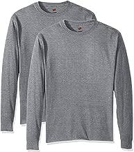 تيشيرت Hanes رجالي مريح وناعم بأكمام طويلة (عبوة من قطعتين) -  Comfortsoft Long-sleeve T-shirt (Pack of 2) XX-Large