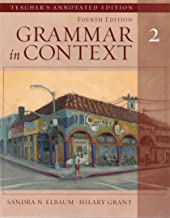 Grammar in Context 2, Fourth Edition (Teacher's Annotated Edition)