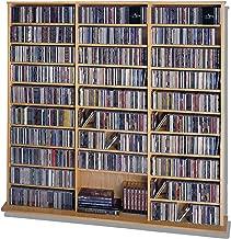 Leslie Dame High Capacity Oak Veneer Multimedia Cabinet, Oak