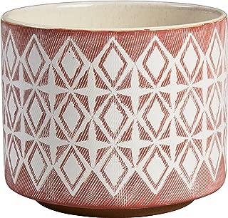 Rivet Modern Geometric Ceramic Planter, 6.5