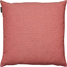 LINUM Pepper Elegant Cushion Cover for Throw Pillow Machine Washable, Cotton, Coral Red, 40 x 40 cm