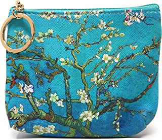 Value Arts Van Gogh's Almond Blossoms Coin Purse Pouch with Key Ring