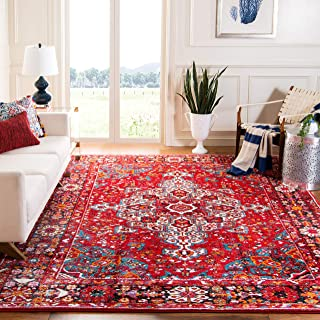 Safavieh Vintage Hamadan Collection VTH222A Red and Multi Area Rug (9' x 12')