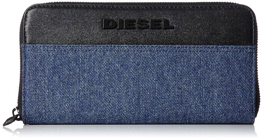 負荷噂寛解(ディーゼル) DIESEL メンズ 異素材ミックス ラウンドファスナー長財布 X06320P2553