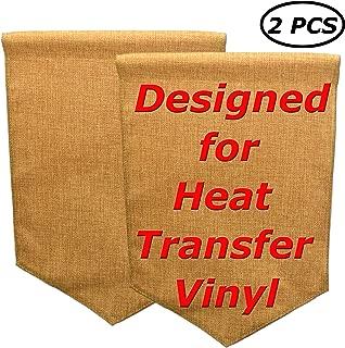 Star DIY Blank Burlap Garden Flag Designed for HTV | Sturdy Double Sides Jute Lawn Yard Banner | Heavy Duty Decoration for Heat Press Custom Vinyl Design 18