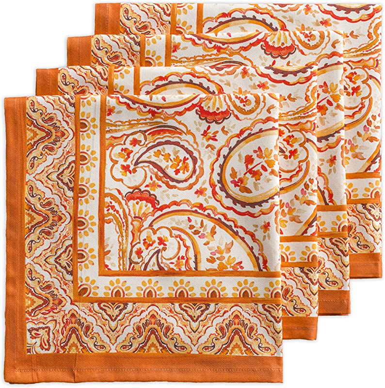 Maison D Hermine Palatial Paisley 100 Cotton Set Of 4 Napkins 20 Inch By 20 Inch