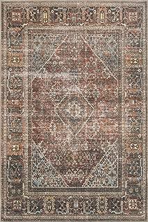 Loloi Loren Collection Vintage Printed Persian Area Rug 2'-3