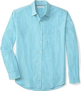 Men's Regular-Fit Long-Sleeve Gingham Casual Poplin Shirt