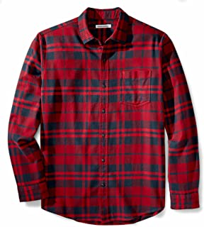 Men's Regular-Fit Long-Sleeve Plaid Flannel Shirt