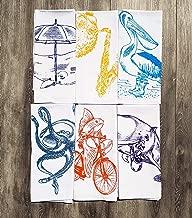 Cloth Cotton Napkins Set of 6 Nautical Multi Color