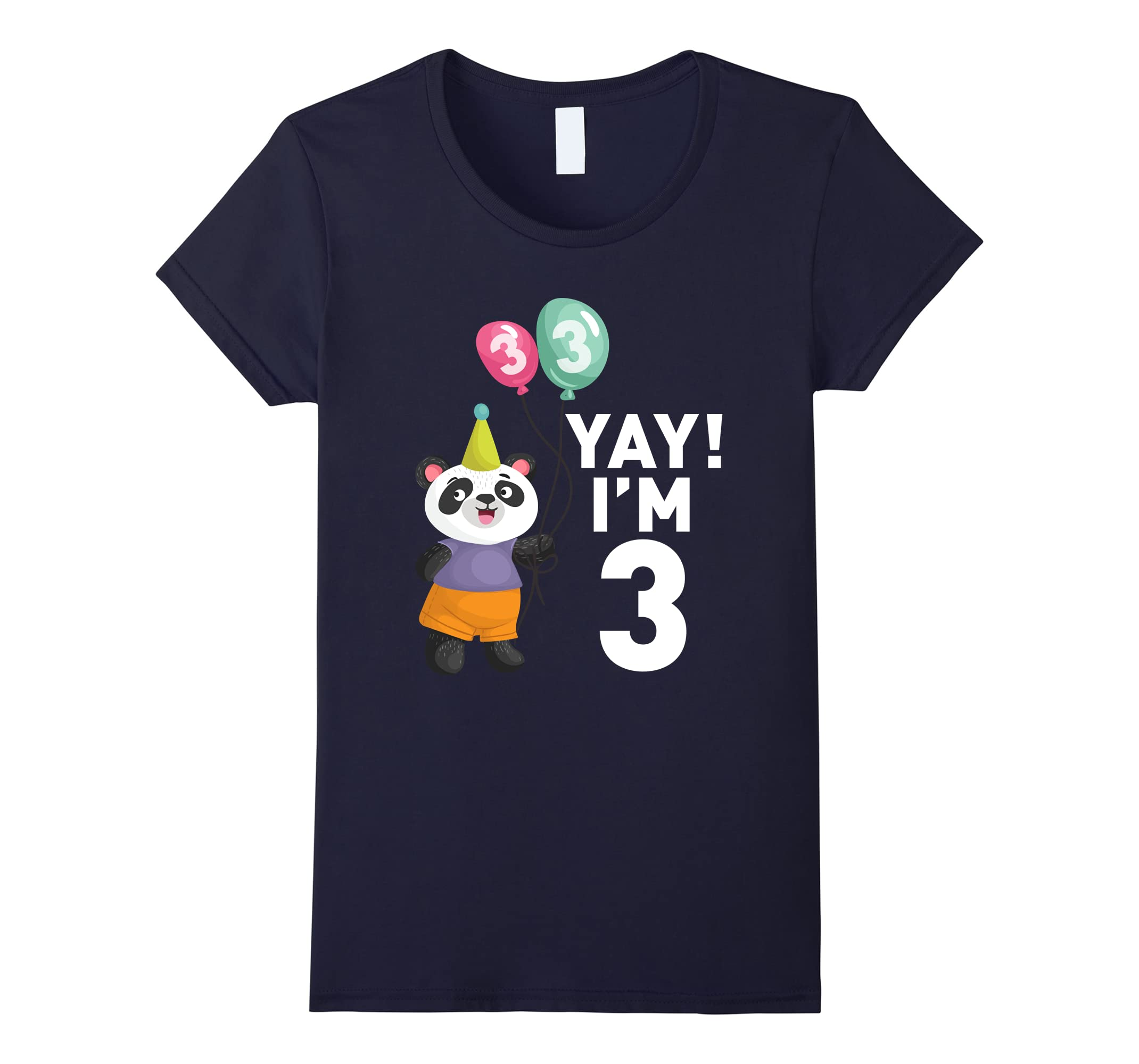 Amazon Cute Panda 3rd Birthday Shirt Happy T Clothing