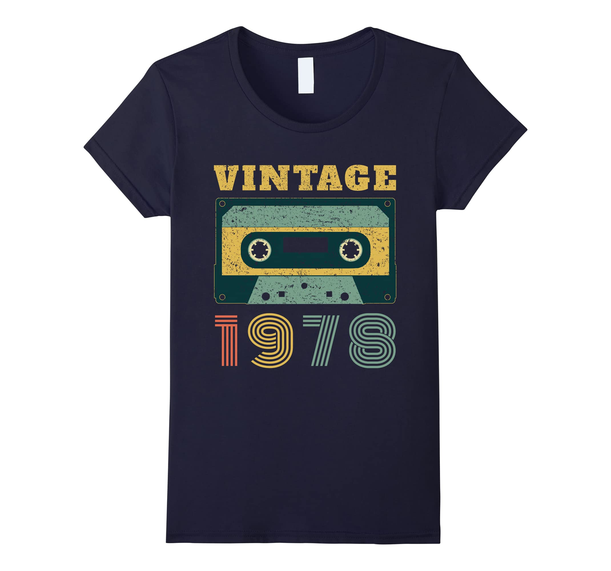 40th Birthday Gift Vintage 1978 Year Old Mixtape T-Shirt-Newstyleth