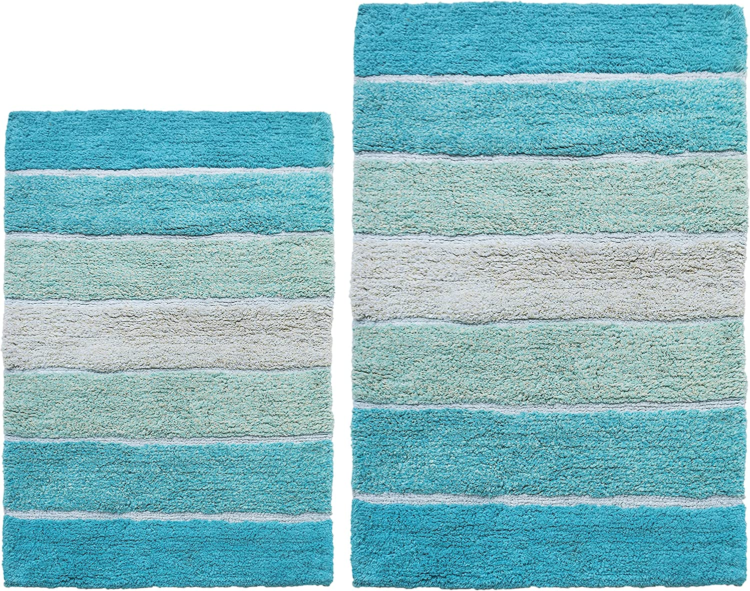 Chardin Home Cordural Stripes Factory outlet Bath Mat 21 Rugs of Set I 2 Latest item