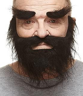 Self Adhesive, Novelty, Realistic, Traper Fake Beard, Fake Mustache and Fake Eyebrows