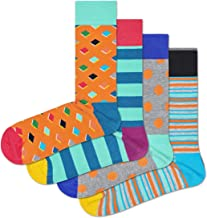 HS by Happy Socks - Fun Colorful Novelty Socks for Men & Women 4 Pack