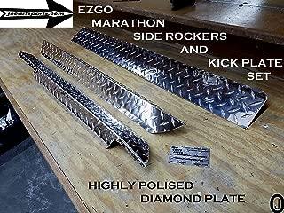 J & O Carts Parts EZGO Marathon Aluminum Diamond Plate Side Rocker Panels & Kick Plate