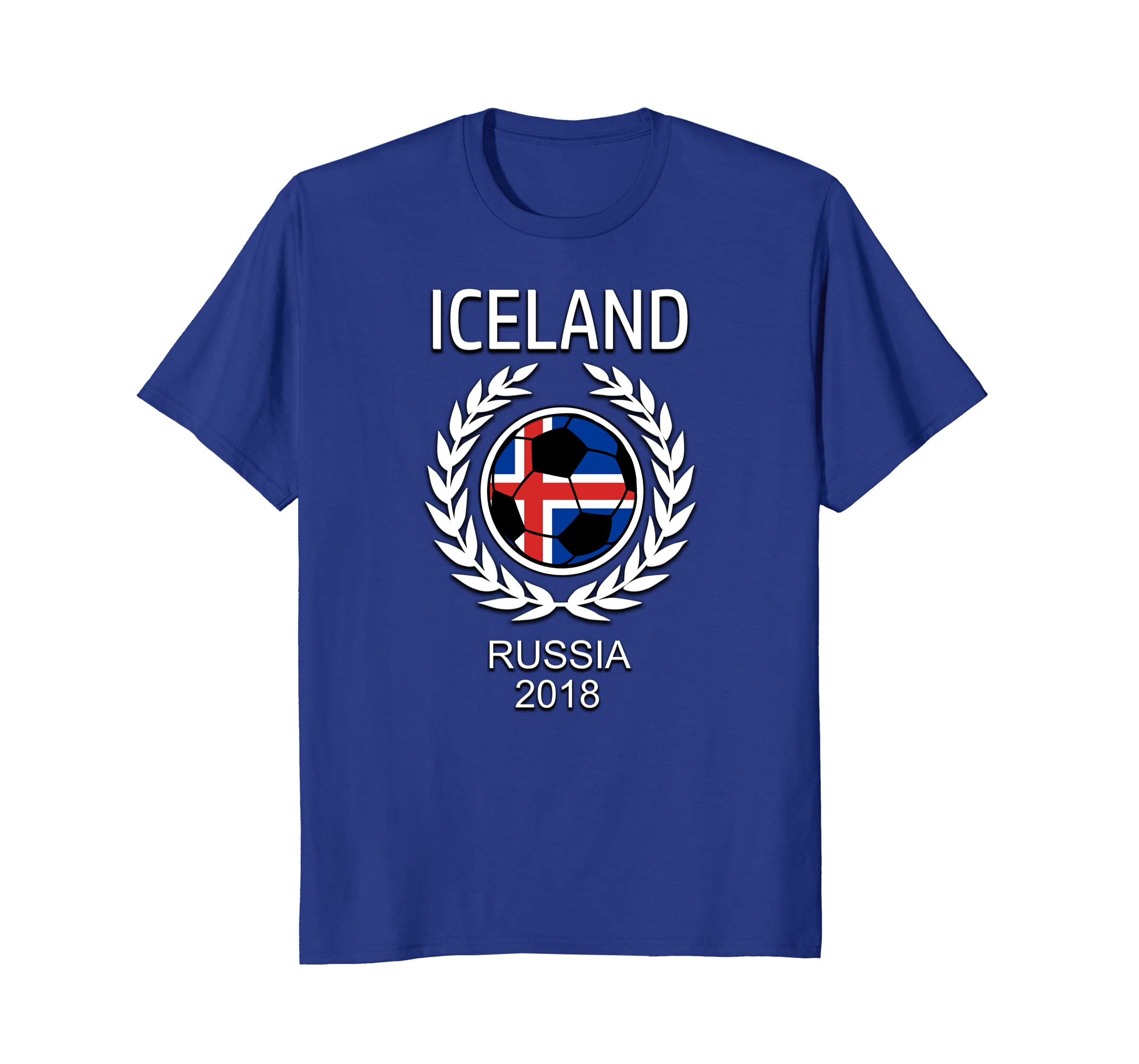 fc08905d385 Amazon.com: Iceland Island Soccer Team 2018 T Shirt Football Fan: Clothing