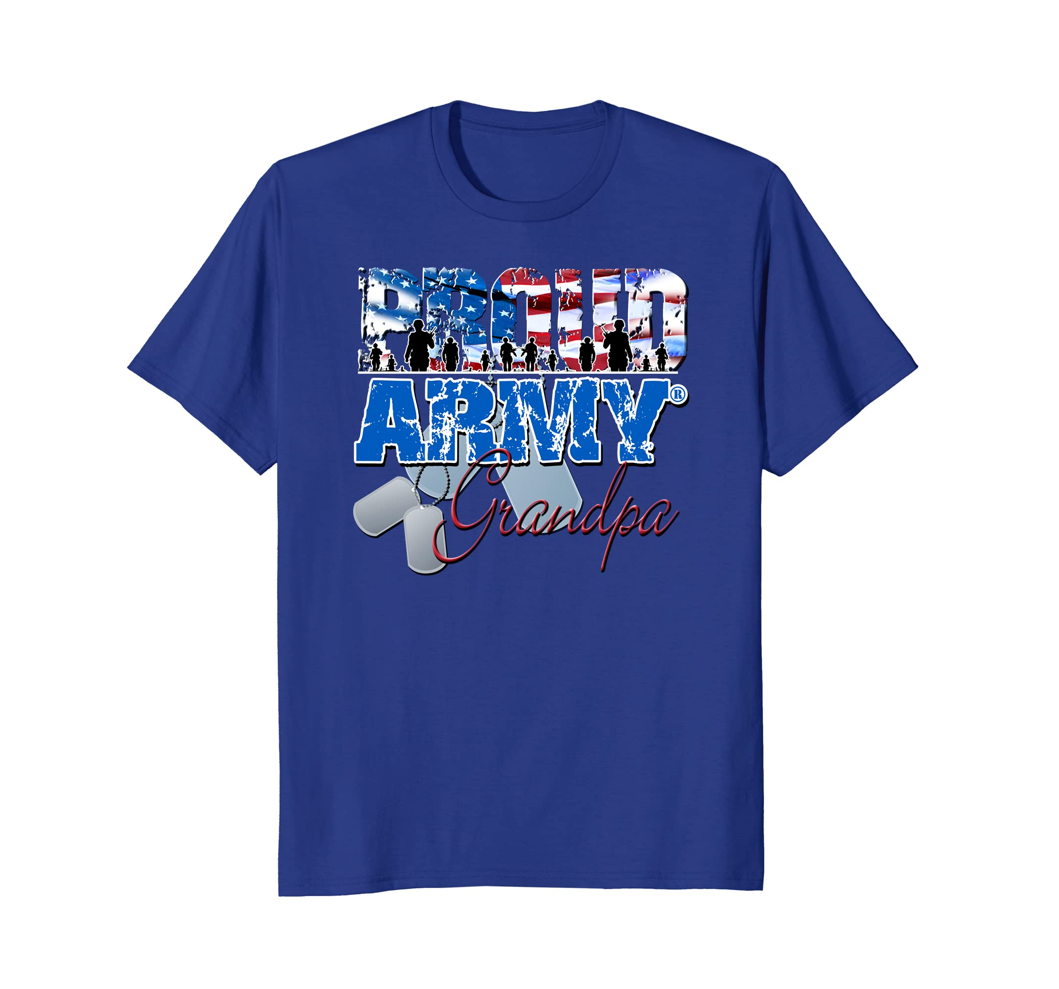 a157a57a Proud Army Grandpa Patriotic Grandparents Day Shirt For Men- TPT ...