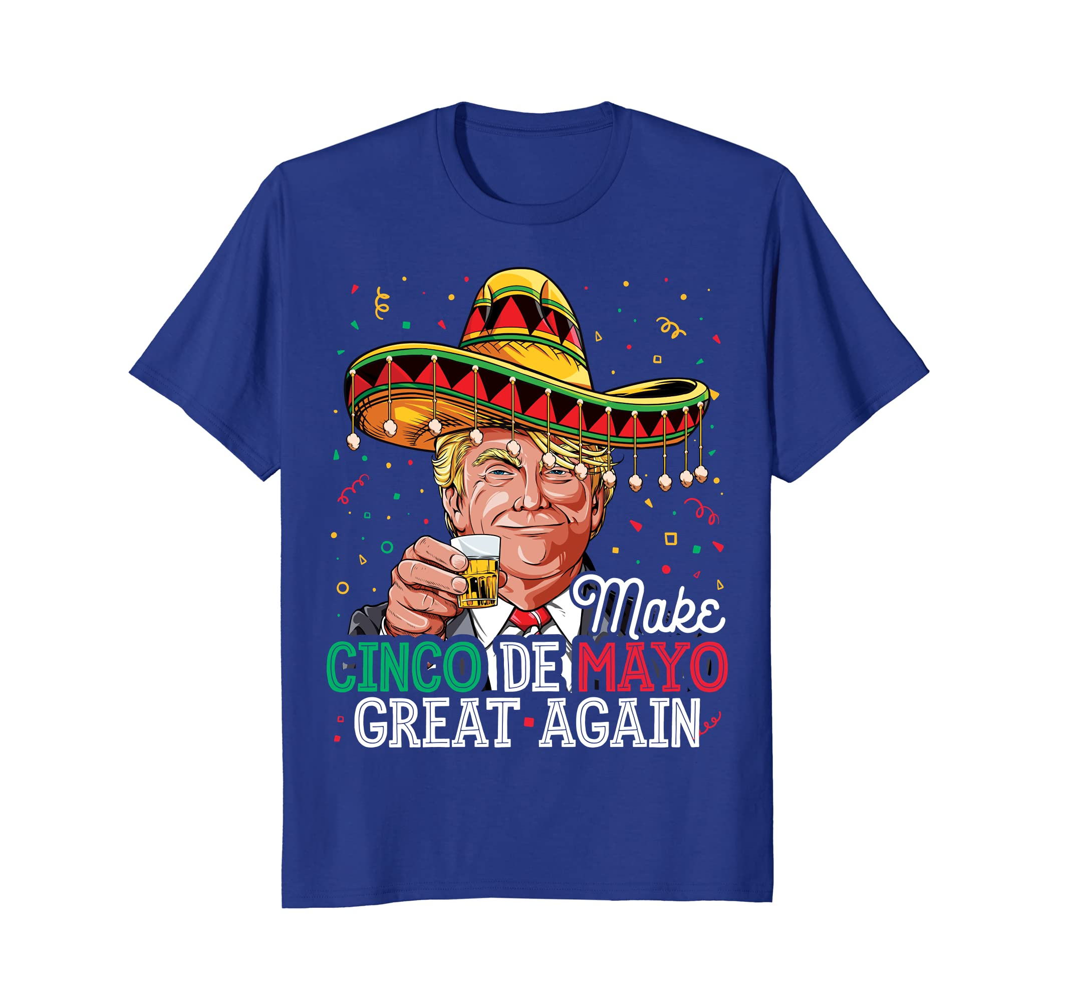 Make Cinco de Mayo Great Again T shirt Women Trump Sombrero-Awarplus