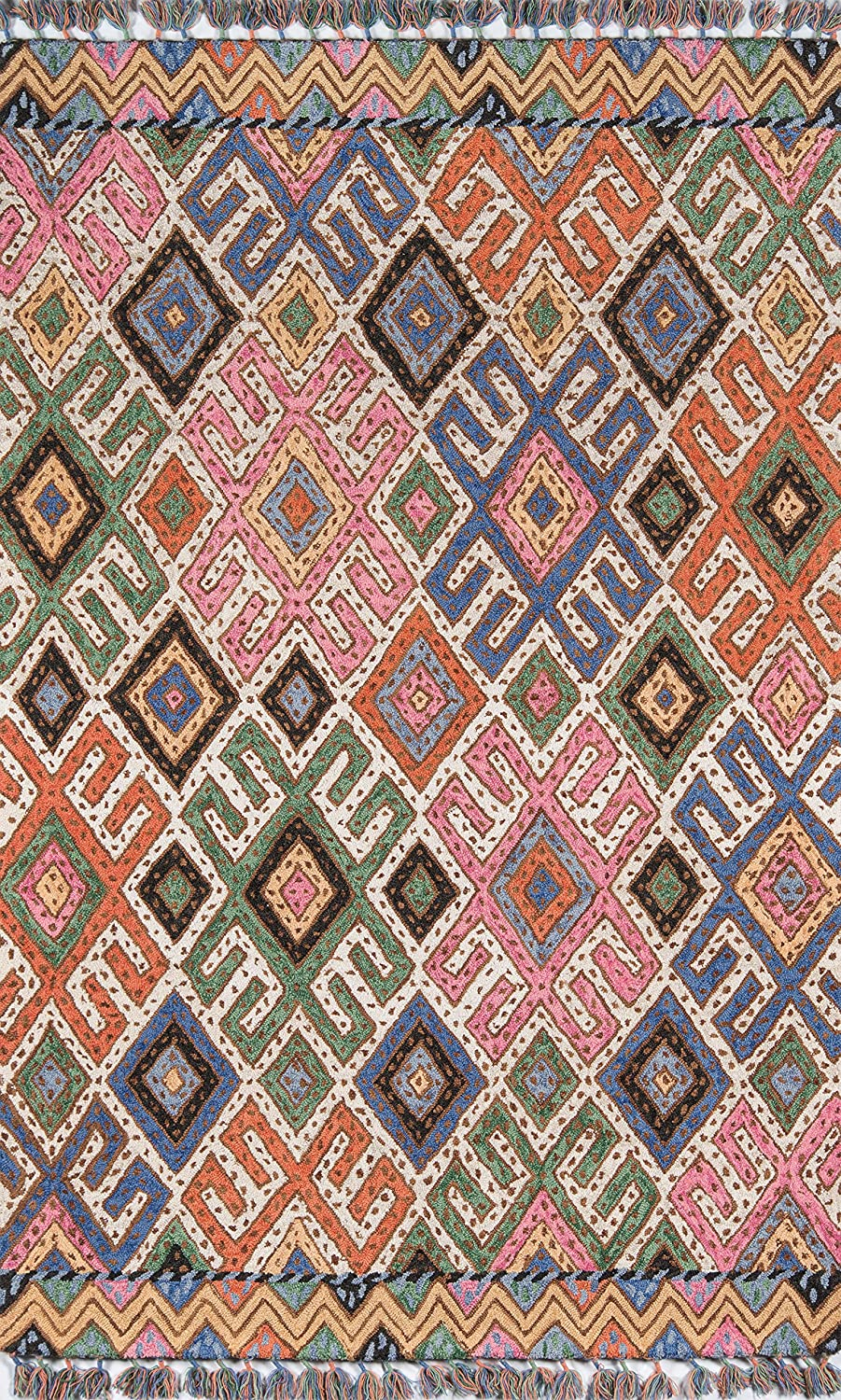 Momeni Tahoe Wool Area Rug X A surprise price is realized 8' Ranking TOP12 Multi 5'