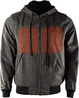 Heated Hoodie | Heated Fleece Jacket with 12V Battery | 4 x Heating Elements