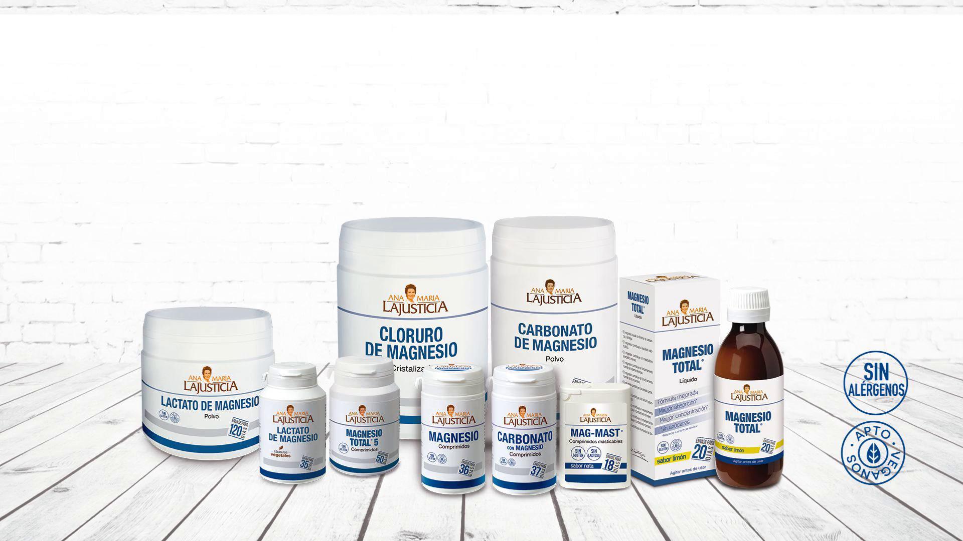 Ana Maria Lajusticia - Carbonato de magnesio – 180 gr. Disminuye el cansancio y la fatiga, mejora el funcionamiento del sistema nervioso. Apto para veganos. Envase para 150 días de tratamiento.: Amazon.es: