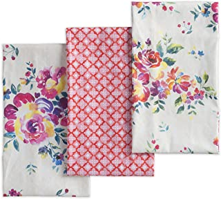 Maison d' Hermine Rose Garden 100% Cotton Set of 3 Kitchen Towel 20 Inch by 27.5 Inch