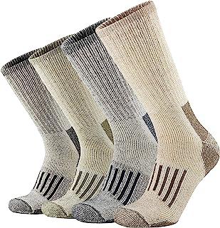 ONKE Men's Merino Wool Moisture Wicking Thermal Outdoor Hiking Heavy Cushion Crew Socks