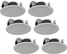 Yamaha In-Ceiling 3-Way 100 watts Natural Sound Custom Easy-to-install Speakers (Set of 6) with Dual Tweeters & 6-1/2