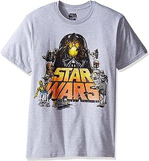 تي شيرت رجالي بأكمام قصيرة بشعار Star Wars