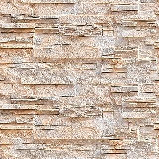 murando Papel Pintado autoadhesivo 10m Fotomurales Decoración de Pared Murales Pegatina decorativos adhesivos 3d panel moderna de Diseno Fotográfico imitación piedra piedras f-B-0216-an-a