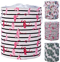 HOKIPO® Pop Up Foldable Laundry Basket for Clothes with Lid Drawstring Closure | Dirty Clothes Storage Basket Bin- Large 43 Litre