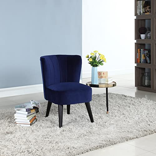Navy Velvet Chair Amazoncom