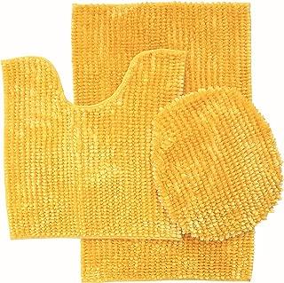 3 Piece Luxurious Butter Chenille Bath Rug Large Bath mat 19.5