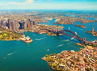 Adult Jigsaw Puzzle Aerial View Cityscape Sydney Australia 500-Pieces