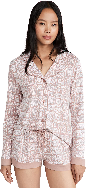 Cosabella Women's Bella Printed Short Sleeve Top & Pant Pj Set