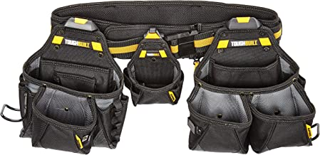 ToughBuilt – Contractor Tool Belt Set – Includes 3 Pouches, Padded Belt,..