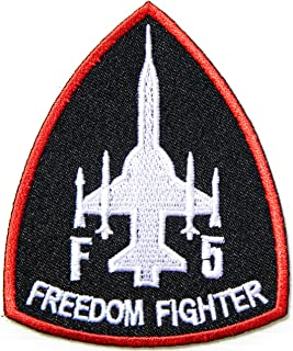 F5 FREEDOM FIGHTER USAF Army Military Pilot USAF Chevron Logo Tab Jacket Uniform Patch Sew Iron on Embroidered Sign Badge Costume