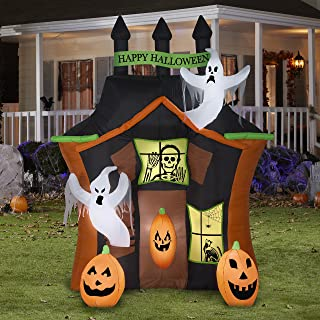 Halloween Haunted House Inflatable Outdoor Yard Blowup Decoration, 9 Feet
