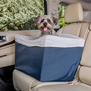 PetSafe Happy Ride Jumbo Booster Seat for Dogs - Elevated Pet Bed for Cars, Trucks and SUVs - Multiple Styles, Includes Tether