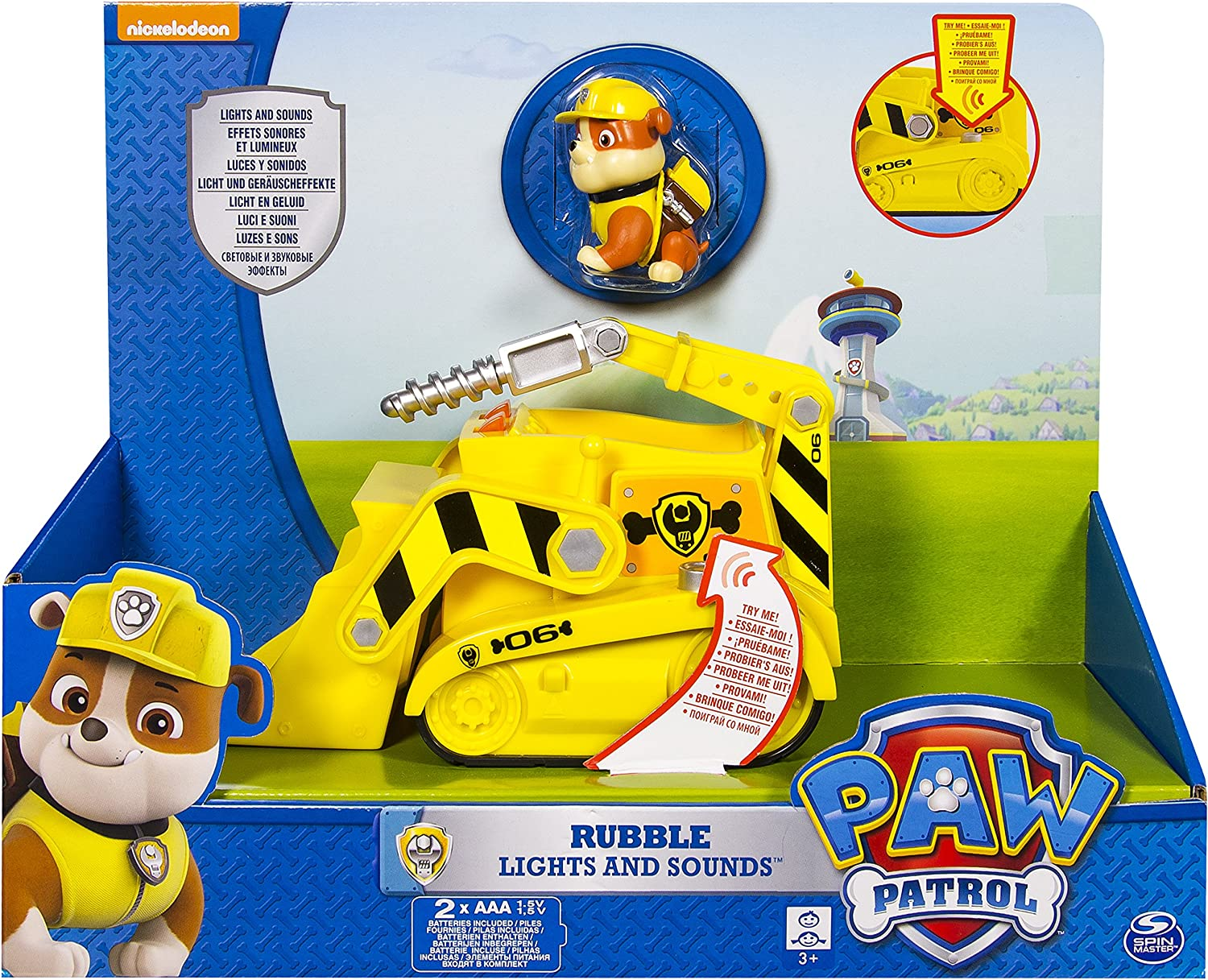 PAW PATROL 6027167 Lights and Sounds Vehicle Rubble Playset