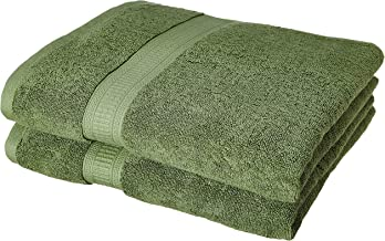 Amazon Brand - Solimo Bamboo Bliss 2 Piece Bath Towel Set, 575 GSM (Sage Green)