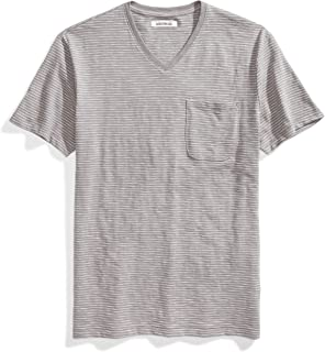 Amazon Brand - Goodthreads Men's Lightweight Slub V-Neck Pocket T-Shirt