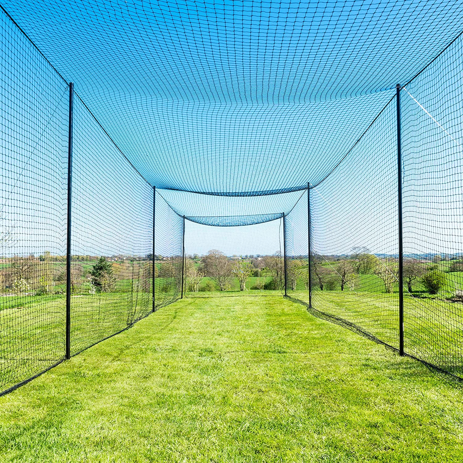 Fortress Ultimate Baseball Batting Cage [20', 35', 55', 70'] | #42 Grade Net with Steel Poles | Baseball & Softball Cage & Netting | Softball Batting Cage (20' Batting Cage Package) : Sports & Outdoors