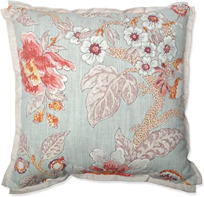 Creative Co Op Square White Cotton Pillow With Embroidered Multicolor French Knot Flowers Home Kitchen